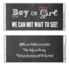 Baby Shower Candy Wrapper - Gender Reveal Chalkboard