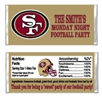 San Francisco 49ers Football Candy Wrapper Party Favor