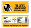 Pittsburg Steelers Football Candy Wrapper Party Favor