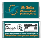 Miami Dolphins Football Candy Wrapper Party Favor