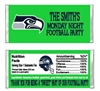 Seattle Seahawks Football Candy Wrapper Party Favor