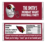 Arizona Cardinals Football Candy Wrapper Party Favor