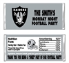 Oakland Raiders Football Candy Wrapper Party Favor