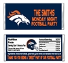 Denver Broncos Football Candy Wrapper Party Favor
