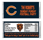 Chicago Bears Football Candy Wrapper Party Favor