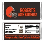 Cleveland Browns Football Candy Wrapper Party Favor