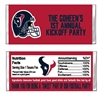 Houston Texans Football Candy Wrapper Party Favor