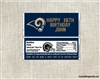 St. Louis Rams Candy Wrapper Party Favors