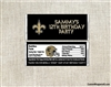 New Orleans Saints Candy Wrapper Party Favors