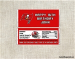 Tampa Bay Buccaneers Candy Wrapper Party Favors