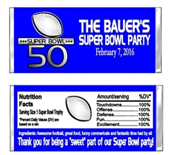 Superbowl Candy Wrapper Party Favors