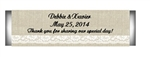 Wedding Lifesaver Label - Burlap and Lace