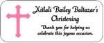 Baptism / First Communion / Confirmation Mini Bubble Label - Cross