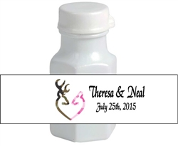 Wedding Mini Bubble Label - Camouflage Deer