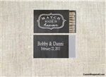 Match box labels, wedding match box labels, met my match, wedding favors