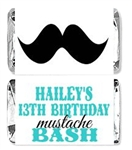 Birthday Mini Candy Wrapper - Mustache