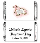 Baptism Mini Candy Wrapper - Cross & Bible
