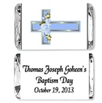 Baptism Mini Candy Wrapper - Cross