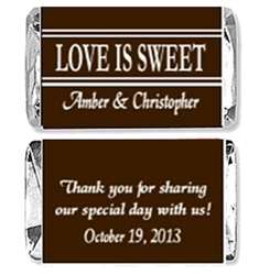Wedding Mini Candy Wrapper - Love is Sweet