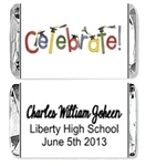 Graduation Mini Candy Wrapper - Celebrate!