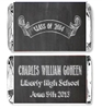 Graduation Mini Candy Wrapper - Chalkboard