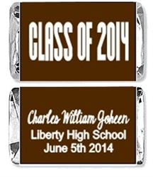 Graduation Mini Candy Wrapper - Class of