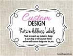 Custom Design Return Address Labels Made to Match