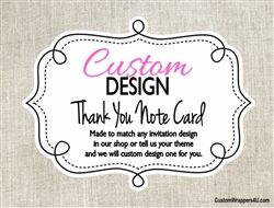 Custom Design Personalized Thank You Note Card