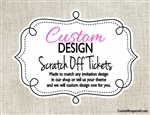Custom Design Personalized Scratch Off Tickets