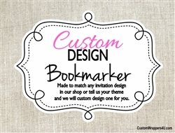 Custom Design Personalized Bookmarker