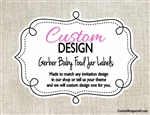 Custom Design Baby Food Jar Labels