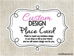 Custom Design Personalized Place Card