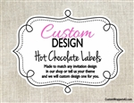 Custom Design Hot Chocolate Label