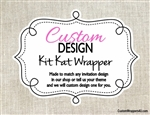 Custom Design Personalized Kit Kat Candy Wrapper