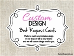 Custom Design Book Request Card