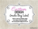 Custom Design Personalized Goodie Bag Label