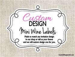 Custom Design Personalized Mini Wine Label