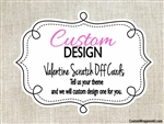 Custom Design Personalized Valentine Scratch Off Card