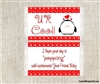 Valentine's Day Popcorn Wrappers Party Favors Penguin