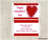 Valentine's Day Popcorn Wrappers Party Favors