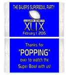 Football Super Bowl Popcorn Wrapper (background color can be changed)