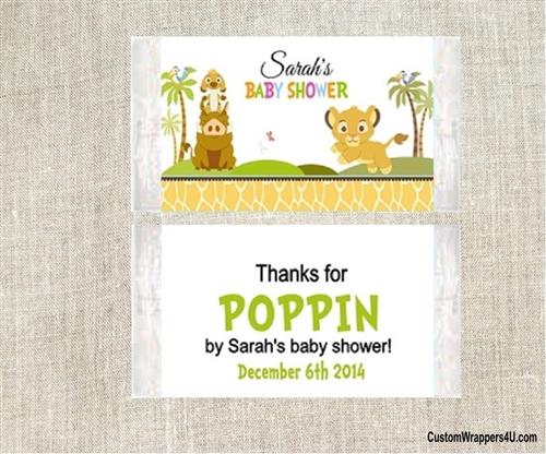 Baby Shower Popcorn Wrapper Lion King