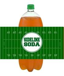 football soda bottle label, sideline soda