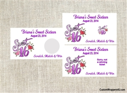 Sweet Sixteen Scratch Off - Purple