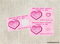 Sweet Sixteen Scratch Off - Heart