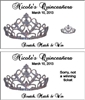 Quinceanera Scratch Off - Tiara