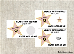 Birthday Scratch Off - Hollywood Star