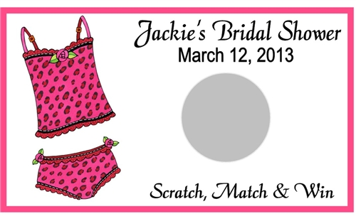 bridal shower scratch off lingerie