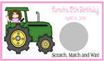 Birthday Scratch Off - Tractor Girl