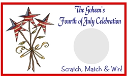 Fourth (4th) of July Scratch Off - Star Bouquet